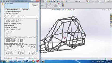 frame design solidworks baja car frame solidworks weldment youtube