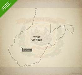 West Virginia State Outline Vector by Free Vector Map Of West Virginia Outline One Stop Map