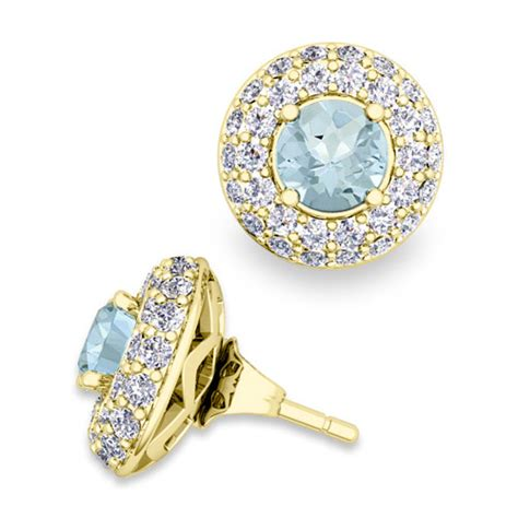 earring jackets for studs custom pave earring jackets and gemstone studs 14k 18k gold