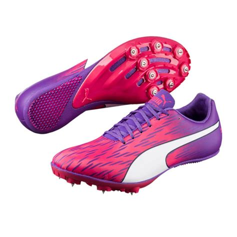track shoes for evospeed sprint 7 womens pink purple running spikes