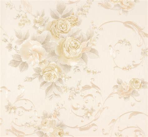 Kids Wall Murals Wallpaper wallpaper romantica flower cream beige as 30647 1