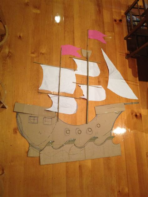 cardboard pirate ship template pirate ship template cardboard pirate ship a