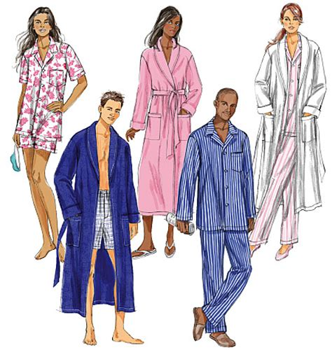 kimono pattern butterick butterick 5537 misses men s robe belt top shorts and pants