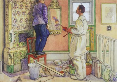 painting at home file carl larsson carpenter and painter jpg