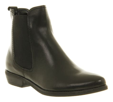 office dallas chelsea boot black leather ankle boots
