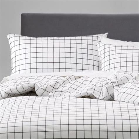 grid pattern bed set duvet cover grid bedding black and white bedding grid
