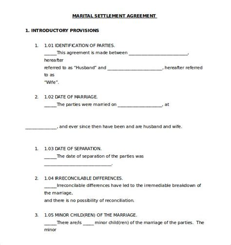 ontario separation agreement template separation agreement template 13 free word pdf