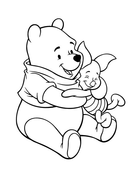 winnie the pooh rabbit coloring pages coloring pages