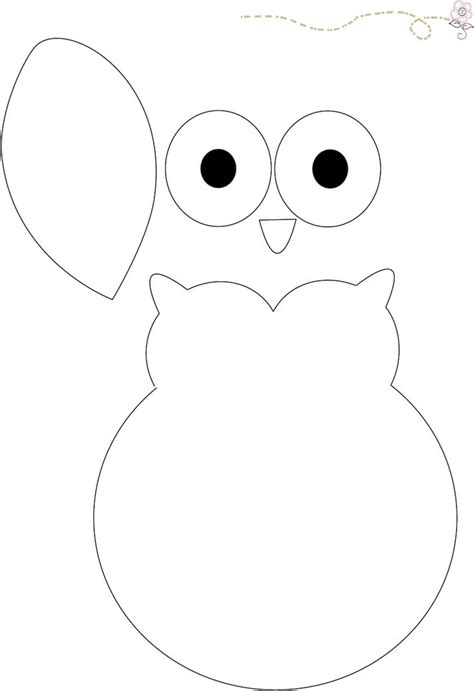 Owl Paper Craft Template - owl pattern babyshower