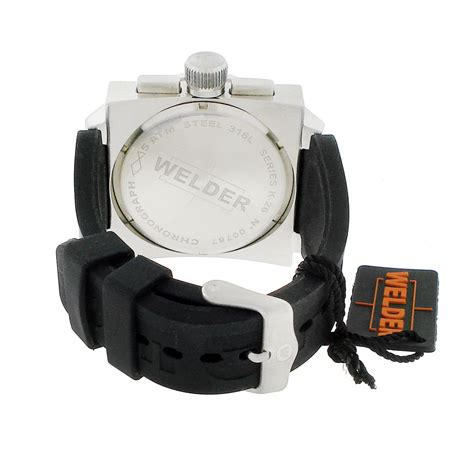 welder crono stopwatch chronograph brushed stainless steel s welder