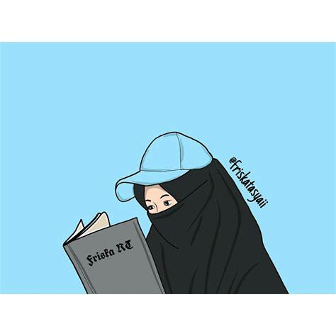 gambar kartun putri hijab himpun kartun
