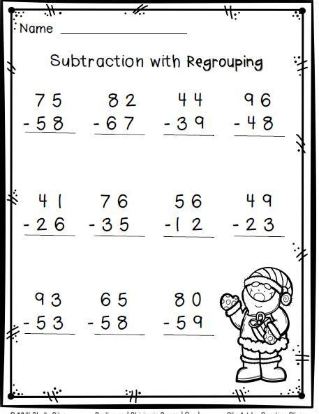 Subtracting With Regrouping Worksheet by Subtraction With Regrouping Worksheets 2nd Grade Kelpies