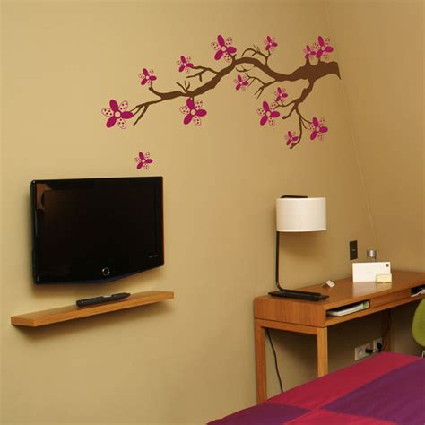 wall stickers branches polkadot blossom branch wall decals