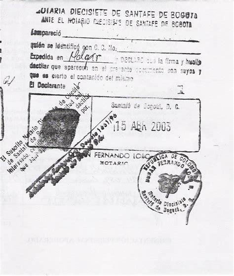 ejemplos de firmas ejemplo de sello notarial compulsas enfermerasenuk