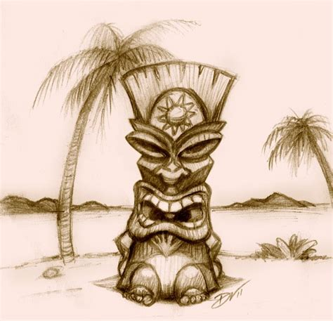 tiki hut drawing 25 best ideas about tiki statues on pinterest tiki mask