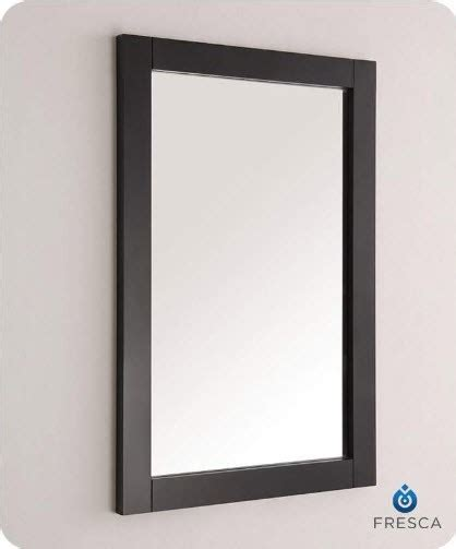 traditional bathroom mirror fresca fmr2302bl hartford 20 inch black traditional