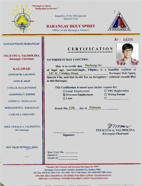 Lost Certificate Letter Sle Sle Barangay Certification Letter 28 Images Barangay Tax Code Sle Loadxtreme Resources How