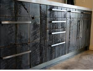 Jackson Kitchen Cabinet barn wood faux on kitchen cabinets by avant palette custom