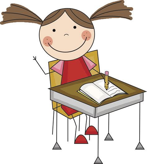 School Desk Cliparts The Cliparts Student In Desk Clipart