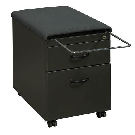 Ts 03 Grey steelcase ts series used mobile cushion top box file
