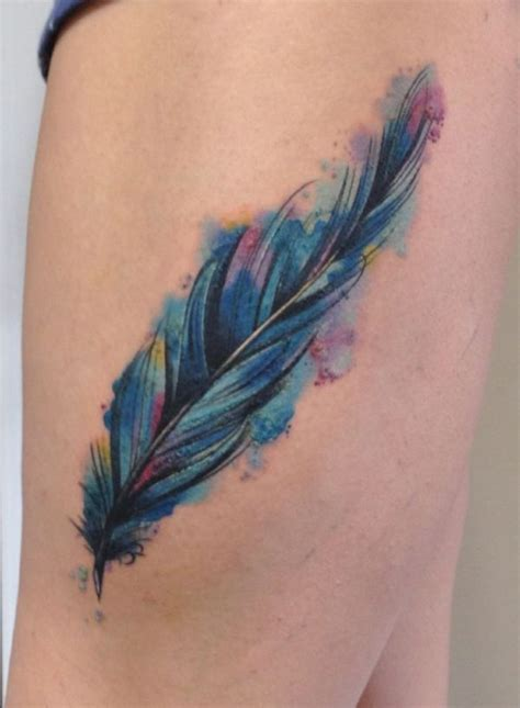 tattoo feather blue blue jay tattoo google search owl and olive tree