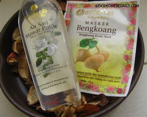 Masker Bengkoang Mustika Ratu Saset masker bengkoang air sari mawar putih cool combinations daily
