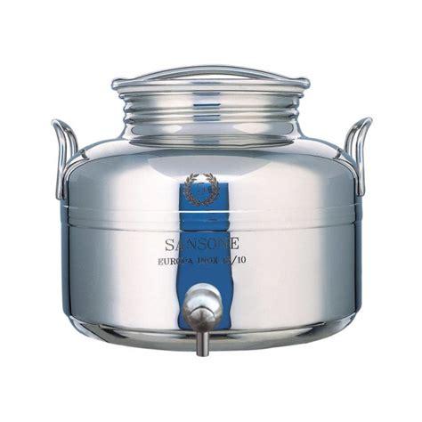 contenitori con rubinetto sansone contenitore inox lt 5 con rubinetto