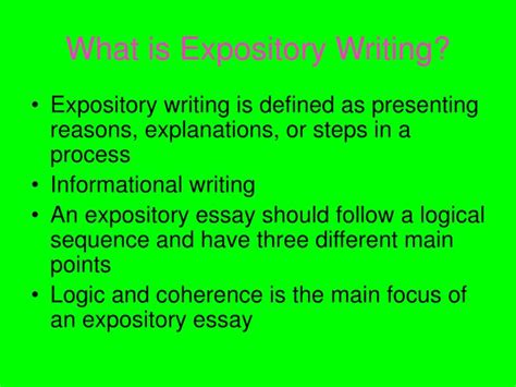 ppt expository writing powerpoint presentation id 5556724