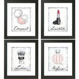 bathroom decor picture frames make up wall art beauty pinterest