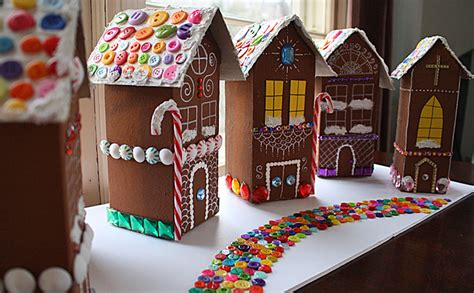How To Make A Gingerbread House Out Of Paper - decoupage a recycled gingerbread mod podge rocks