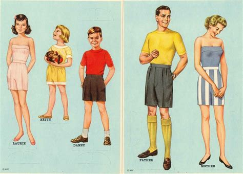 printable paper doll family 31 best blondie newspaper paper dolls images on pinterest