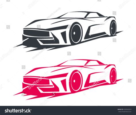 Auto Logo Tuning by Tuning Car Logos Emblems Badges Labels Stock Vector