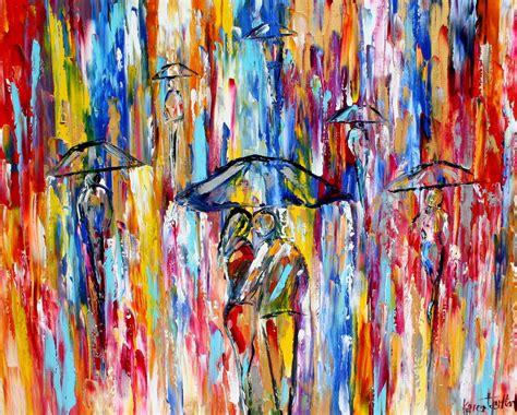 printable fine art fine art print abstract city rain print from oil painting