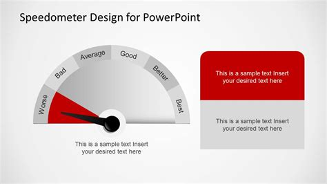 Editable Speedometer Design Template For Powerpoint Speedometer Powerpoint Template