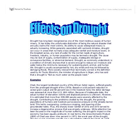 Drought Essay college essays college application essays essay on drought