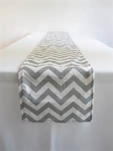 gray and white chevron table runner 11 x 108 in