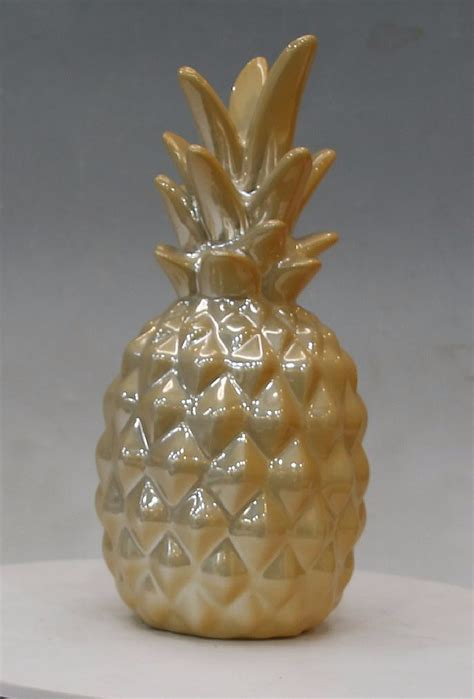 ceramic home decoration pearl gold home decoration ceramic pineapple buy home