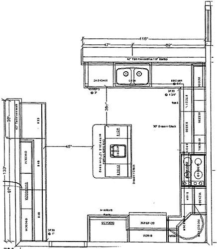 How To Design My Kitchen Floor Plan Favorite 15 Kitchens With Islands Floor Plans Photos Kitchens With Islands Floor Plans In