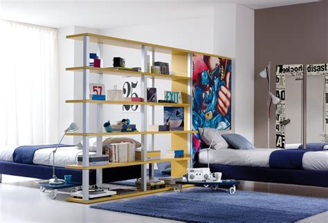 split bedroom into two divide a large room into two kid quot rooms quot with bookcase