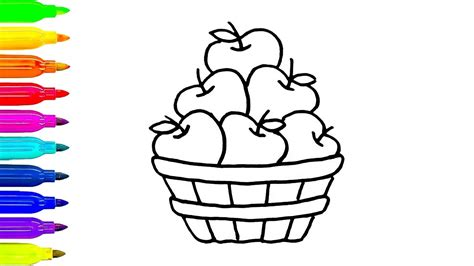 apple barrel coloring pages 91 coloring pages apple basket apple fruit coloring