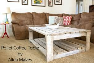 how to make a coffee table out of pallets how to whitewash a pallet coffee table diy alida makes