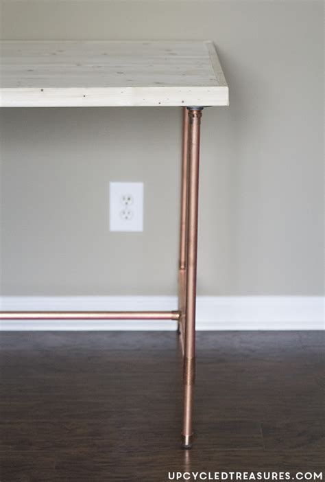 how to a pipe desk diy copper pipe desk mountainmodernlife com