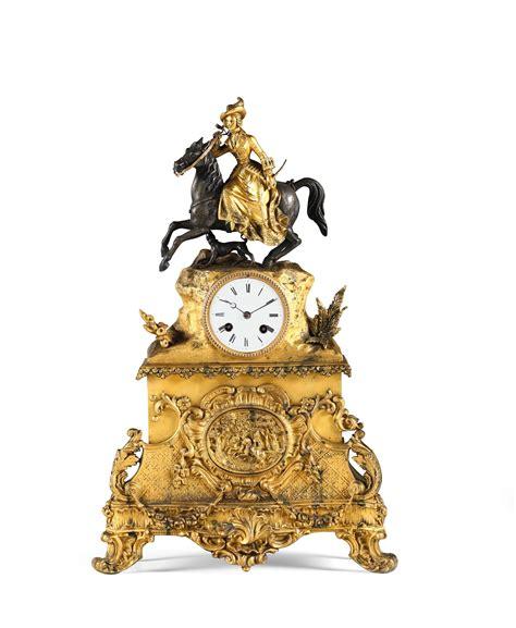 pendole da tavolo due pendole da tavolo in bronzo dorato napoleone iii xix