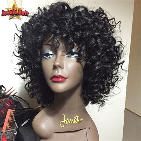 image of short brazillian hair kinky curly brazilian virgin hair lace front wigs short