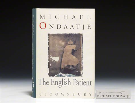 themes in the english patient novel english patient first edition signed michael