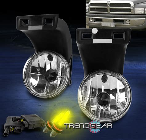 dodge ram hid fog lights 1994 2001 dodge ram 1500 2500 3500 bumper driving chrome