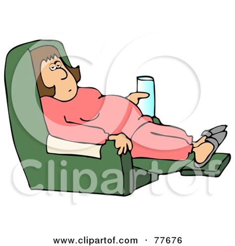 cartoon sitting on couch lazy person clipart cliparthut free clipart