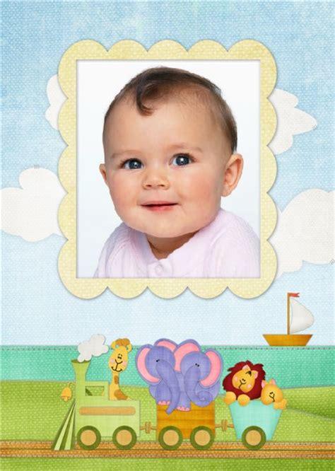 decorar fotos de bebes gratis marco de trencito para fotos de beb 233 s marcos para fotos