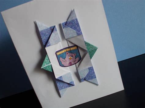 How To Make A Origami Card - how to make an origami birthday card