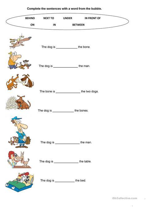 Prepositions Worksheet by All Worksheets 187 Esl Prepositions Of Movement Worksheets
